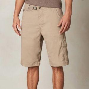 NWT Prana Stretch Zion Khaki Cargo Hiking Shorts